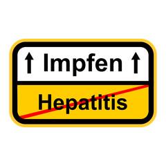 Hepatitis , Impfen, Schild