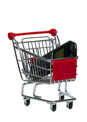 Shopping Cart with a cell phone