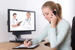 concept photo - online consultation with doctor