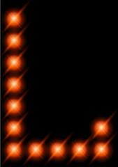 LED letters.