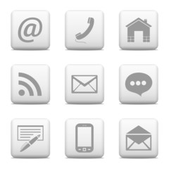 Contact web buttons - vector