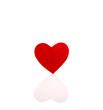 Ein rotes Herz isoliert auf Hintergrund weiß