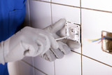 Repairing bathroom electrical socket