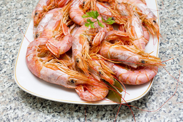prawns on plate