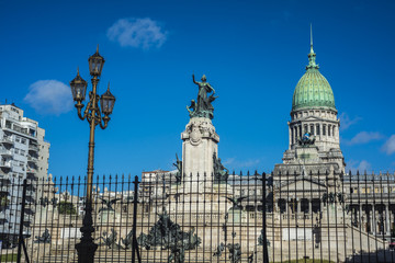 Congressional Plaza in Buenos Aires, Argentina