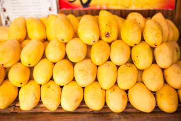 Yellow Mango in the local market on island of Boracay