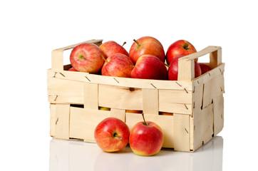 äpfel in der Obstkiste