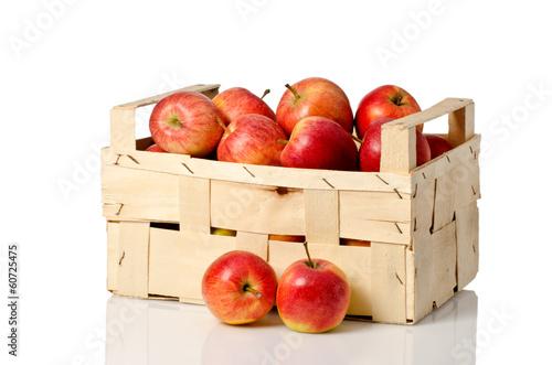 canvas print picture äpfel in der Obstkiste