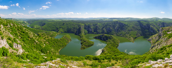Canyon of Uvac river, Serbia