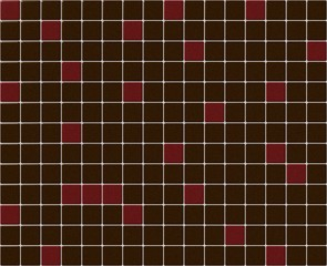 Small tiles mosaic with brown and red colors