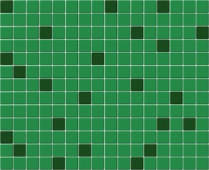 Small green tiles mosaic