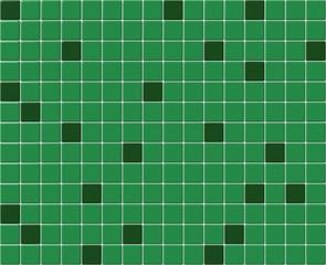 Small green tiles mosaic