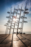 Thessaloniki umbrellas sculpture (placed at the new position)