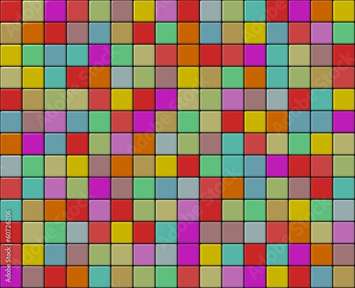 Small tiles mosaic with different colors