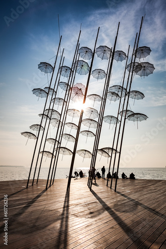 Thessaloniki umbrellas sculpture (placed at the new position) - 60726236