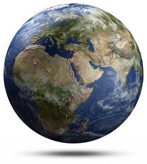 Earth globe - Africa, Europe and Asia
