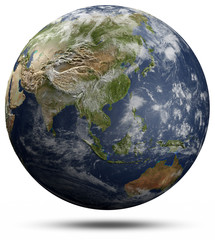 Earth globe - Asia and Oceania