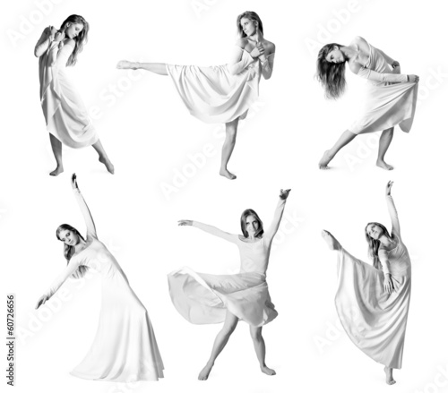 Set of photos modern style dancer
