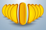 Abstract concept of banana like tubs formation
