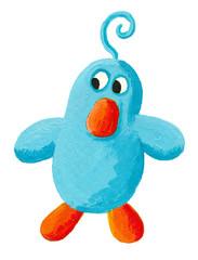 Funny blue bird