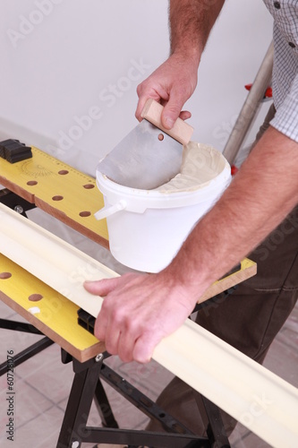 Preparation of plaster