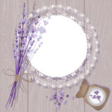Vector Lavender Background