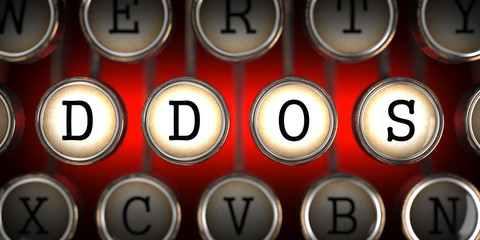 DDOS on Old Typewriter's Keys.
