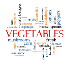 Vegetables Word Cloud Concept