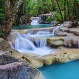 Fototapety Erawan Waterfall, Kanchanaburi, Thailand