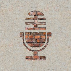 Microphone Icon on the Wall.