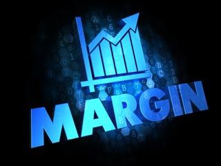 Margin Concept on Dark Digital Background.
