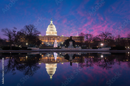 United States Capitol Building Holiday Reflections