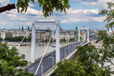 Elisabeth Bridge, Budapest, frontal view