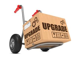Upgrade - Cardboard Box on Hand Truck.