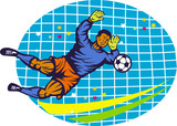 Goalie Soccer Football Player Retro