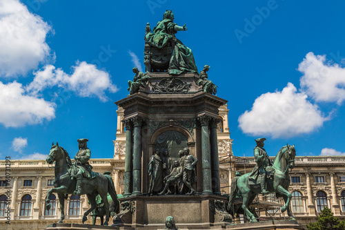 Monument of the famous monarch Maria Theresia of Habsburg(Vienna