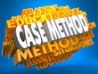 Case Method on Yellow WordCloud.