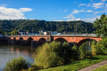 Ancient Roman bridge in Trier, Germany