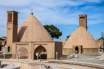 Water cistern in desert town Naein in Iran