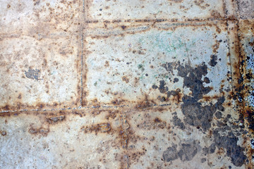 Background of a rust (deck of an old ferry)