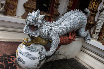 Sculpture at Wat Bupharam temple in Chiang Mai, Thailand