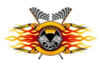 Motor racing championship icon