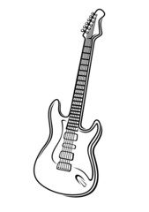 Vector illustration of an electric guitar