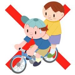2人乗り自転車禁止