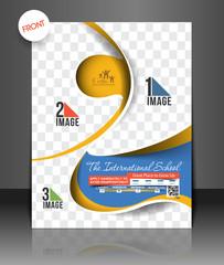 Vector School Brochure, Flyer Front, Template
