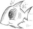 Shark Fish Sketch Doodle Illustration Vector Art