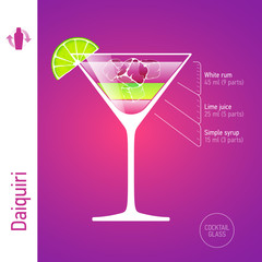 Daiquiri. Cocktails infographics.