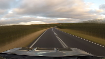 Driving in Great Ocean Road