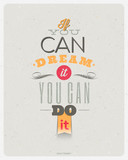 Fototapety Quotes by Walt Disney. Typographical vector design.
