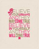 Motywujący cytat - Believe in Your dreams